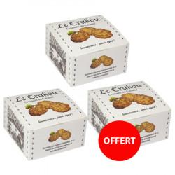 2 boîtes de crakou caramel achetées, la 3ème OFFERTE